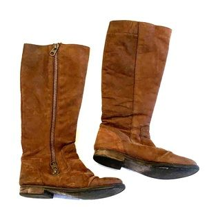 Steve Madden knee high brown leather boot 8.5